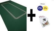 HUGE 1.8m LARGE POKER FELT LAYOUT - TEXAS HOLDEM + DEALER BUTTON + BLINDS AND CARDS
