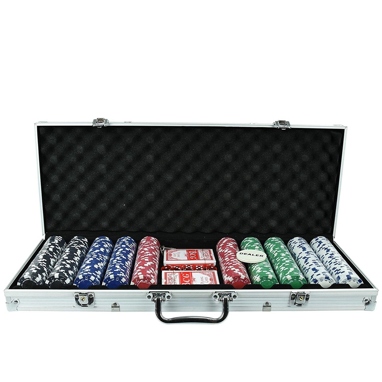 Professional poker set including 500 chips how do flushes work in poker