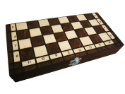 Hand Crafted Chess Set with Folding Board Wooden School 26cm