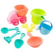 10 PCS Water Beach Toys,Mamum TPE Sand Sandbeach Kids Beach Castle Bucket Spade Shovel Rake Water Tools Toys