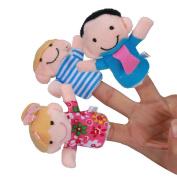 6 Pcs Finger Dolls,Mamum 6 Pcs Finger Even Storytelling Good Toys Hand Puppet For Baby's Gift