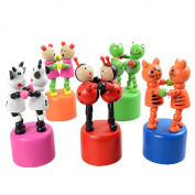 Wooden Spring Swing Doubles Toys,Mamum Kids Intelligence Toy Dancing Stand Colourful Rocking Pas DE deux Wooden Toy