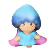 Starry Fairy Decompression Toys,Mamum Galaxy Cute 13cm Flower Fairy Cream Scented Squishy Slow Rising Squeeze Kids Toy