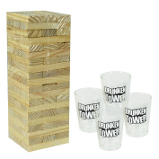 Adult Wooden Drunken Tumble Tower Drinking Game Drink Shots Glasses Novelty Student House Party Family Friends Fun