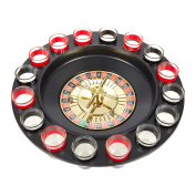Shot Roulette Drinking Game - Roulette Shot - Includes Roulette Wheel, Shot Glasses, Roulette Balls and Starting Guide