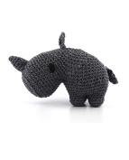 Hoooked Dex the Rhino (lava colour) amigurumi crochet kit & pattern