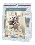 Go hand made 80073 Rabbits, Lilly & Tim 1 Learn to Crochet, Cotton, Creme/Brown, 16 x 7 x 22 cm