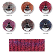 Complete package for crochet beanie and scarf in a shell pattern