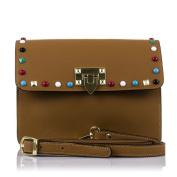 FIRENZE ARTEGIANI. Woman Geunuine Leather handbag. Wirstlet handbag,Shoulder handbag fine soft leather.MADE IN ITALY. GENUINE ITALIAN LEATHER24x18x8 cm. Colour