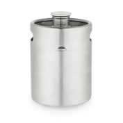 Growler 1890ml Stainless Steel, Rubber Seal Insulated Keg Growler Stainless Steel