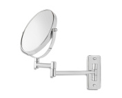 Wall Mirror Makeup Mirror Two-Sided Swivel Mounted Mirror With 7x Magnification
