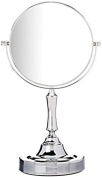 Vanity Mirror Chrome 15cm Tabletop Two-Sided Swivel With 10x Makeup