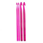 KnitPro 7 mm Spectra Single Ended Crochet Hook, Pink