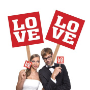 photo props, pack of two, love, perfect for photo shoots, weddings, etc