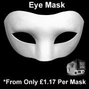 White Eye Mask Adult Mask Plain Mask Decorate Masquerade Halloween Fancy Dress