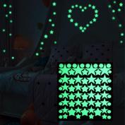 Glow In Dark Wall Ceiling Suns Stars Stickers Wall Decals Night Kid Home Decor Luminous Romantic Decoration