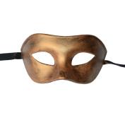 Men Gold Bronze Venice Mask, Colombina, Masquerade, Burlesque, Ball, Party