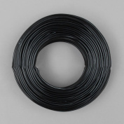 5m x 2mm Black Coloured Aluminium Round Wire for Crafting and Jewellery Making UK Seller