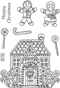 """Sweet Dixie """"Gingerbread House"""" Stamp"""