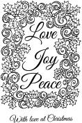"Sweet Dixie ""Love Joy Peace"" Stamp"