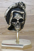 Grim Reaper on Brass coffin solid English brass statue