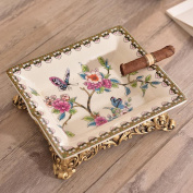 Liuyu · Living Home Pink Flower Pattern Ceramic Ashtray Fashion Ideas Ice Crack Porcelain Home Decorations Living Room Coffee Table Dining Table Decoration