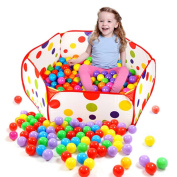 Winkey Pop up Hexagon Polka Dot Children Ball Play Pool Tent Carry Tote Toy,Funny Toy Gift