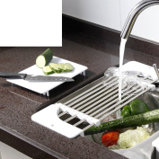 Stainless steel sink placed bowl rack Sink Mug holders Kitchen Stainless steel Shelf Storage in the kitchen-C