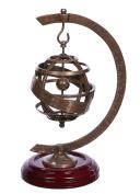 Premier Housewares 25 cm Hanging Vintage Steampunk Brass Armillary Globe Science Astronomy