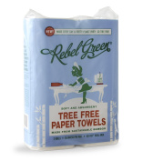 Rebel Green Tree Free Paper Towels - Eco Friendly, Carbon Neutral Bamboo Kitchen Paper Towels - 115 Sheet Per Roll, 4 Total Rolls