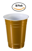 Goodtimes Big Party Pack 50 Count Disposable Plastic Cups, 470ml