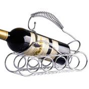 Modern Style Stainless Steel Tank Red Wine Bottle Holder Home Bar Kitchen Shelf Gift