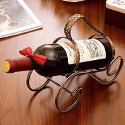 For Creative Twisted Wine Rack Shelf Retro Fashion Simple Iron Ornaments Non-folding