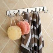 Stainless Steel Towel Rack Five Hooks