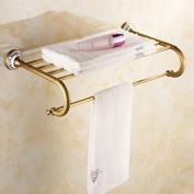 Brass Porcelain Towel Rack Bathroom Accessories Towel Holder Towel Shelf Wall Mounted
