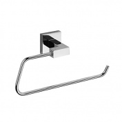 Fashionable Brass Chrome Wall Mounted Towel Ring Square Towel Holder Ring Crystal Bathroom Accessories Towel Bar
