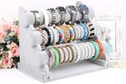 Grey 3-Tier Bar Bracelet Watch Table Jewellery Organiser Holder Rack Stand Display Shelf Bar For Lady Girls