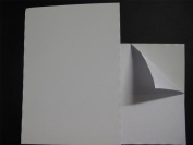 1 x A4 White Self Adhesive Steel Paper 0.2mm Thick Receptive to Magnets 1 Side AM445