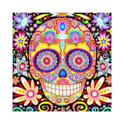 Gemini_mall® DIY 5D Diamond Painting, Crystal Rhinestone Embroidery Pictures Arts Craft for Home Wall Decor Coloured Skull in Smiling 30cm x 30cm