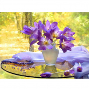 Demiawaking Purple Flowers 5D Diamond Painting Embroidery DIY Cross Stitch Home Decor