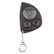 Sharplace MIni Odometer Compass Key Chain Ring Hiking Map Range Finder Multi-function for Hiking Camping