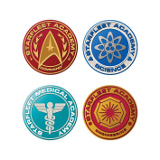 Vandor 80385 Star Trek the Next Generation Starfleet Badge Drink Coasters with Cork Back, 10cm x 0.5cm x 10cm , Multicolor