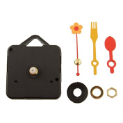 Funnytoday365 Cute Quartz Clock Movement Kit Spindle Mechanism Replacement Repair Parts With Flower Spoon Hands Diy