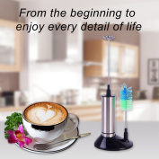 Corcrest(TM) Electric Milk Frother Stainless Steel Egg Beater Frothing Coil Cappuccino Tea Coffee Foaming Maker With Brush Head