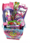 Happy Easter Mega Basket Girls Boys Kids Toddlers Gift Children Pre Made Eggs Egg Goodies Candy Puzzle Chick Cup Baskets Dress Up Lip Gloss -Hatchimals