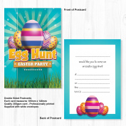 Easter Egg Hunt Party Invitations - Ready to Write with Envelopes