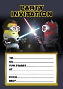 10 x Minions Star Wars Children Birthday Party Invitations with white envelopes