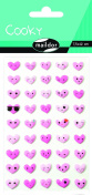 """Maildor Cooky """"Pink Hearts"""" Stickers, Multi-Colour"""