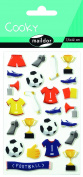 "Maildor Cooky ""Football"" Stickers, Multi-Colour"