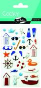 "Maildor Cooky ""Beach"" Stickers, Multi-Colour"